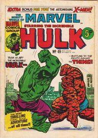 Cover Thumbnail for The Mighty World of Marvel (Marvel UK, 1972 series) #49