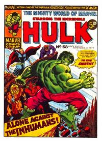 Cover Thumbnail for The Mighty World of Marvel (Marvel UK, 1972 series) #58