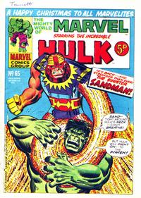 Cover Thumbnail for The Mighty World of Marvel (Marvel UK, 1972 series) #65
