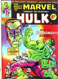 Cover Thumbnail for The Mighty World of Marvel (Marvel UK, 1972 series) #67