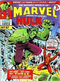 Cover Thumbnail for The Mighty World of Marvel (Marvel UK, 1972 series) #87
