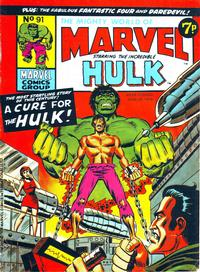 Cover Thumbnail for The Mighty World of Marvel (Marvel UK, 1972 series) #91