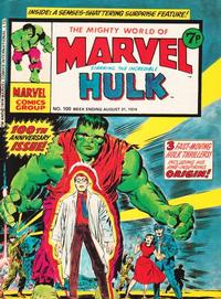 Cover Thumbnail for The Mighty World of Marvel (Marvel UK, 1972 series) #100