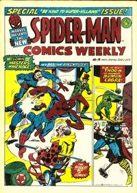 Cover Thumbnail for Spider-Man Comics Weekly (Marvel UK, 1973 series) #16