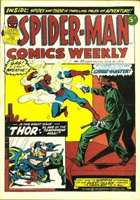 Cover Thumbnail for Spider-Man Comics Weekly (Marvel UK, 1973 series) #20