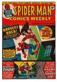 Cover Thumbnail for Spider-Man Comics Weekly (Marvel UK, 1973 series) #28