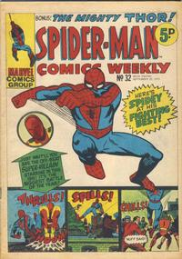 Cover Thumbnail for Spider-Man Comics Weekly (Marvel UK, 1973 series) #32