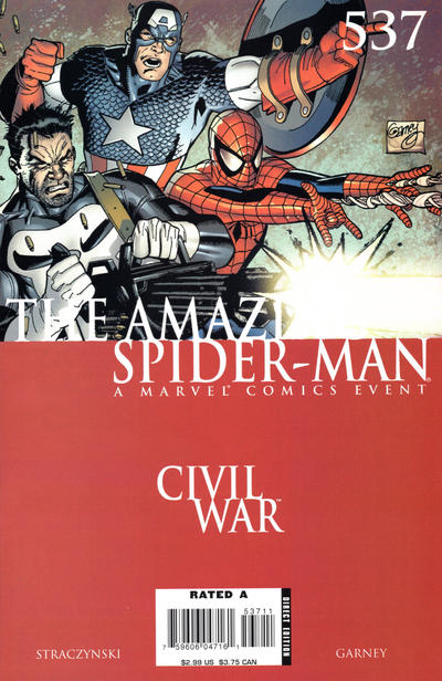 Cover for The Amazing Spider-Man (Marvel, 1999 series) #537 [Direct Edition]