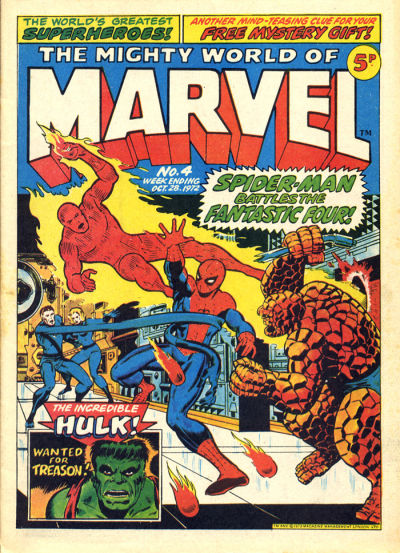 Cover for The Mighty World of Marvel (Marvel UK, 1972 series) #4