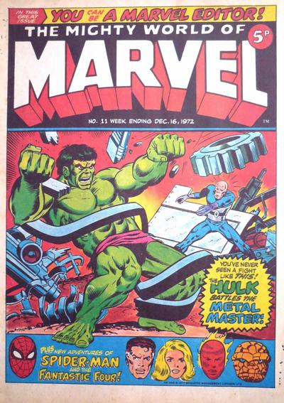 Cover for The Mighty World of Marvel (Marvel UK, 1972 series) #11