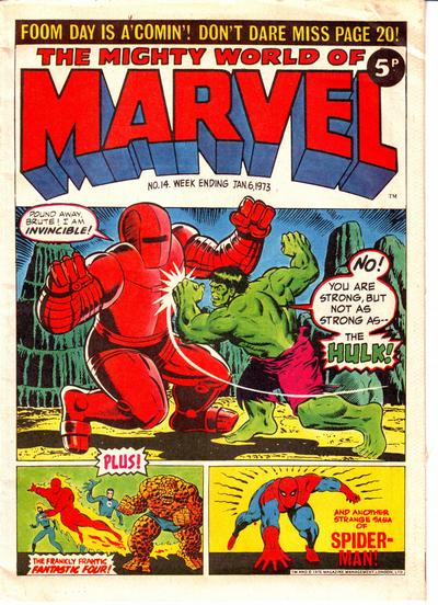Cover for The Mighty World of Marvel (Marvel UK, 1972 series) #14