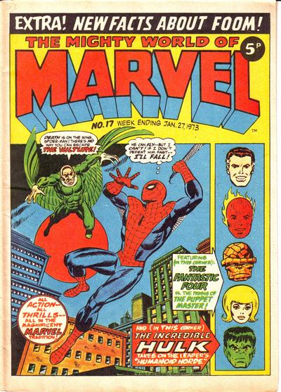 Cover for The Mighty World of Marvel (Marvel UK, 1972 series) #17
