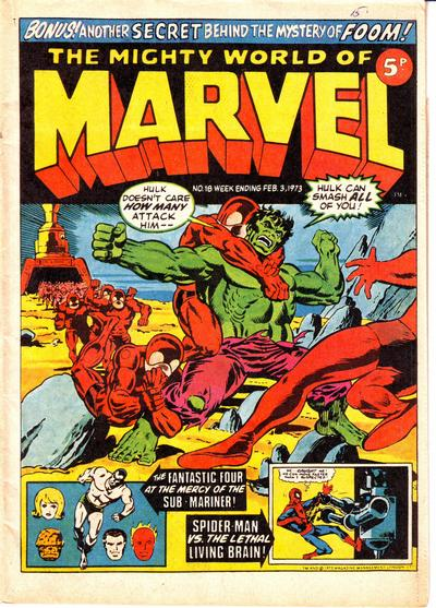 Cover for The Mighty World of Marvel (Marvel UK, 1972 series) #18