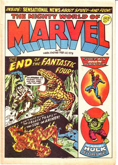 Cover for The Mighty World of Marvel (Marvel UK, 1972 series) #19