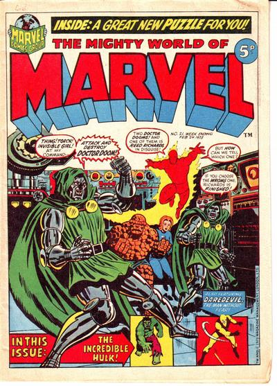 Cover for The Mighty World of Marvel (Marvel UK, 1972 series) #21