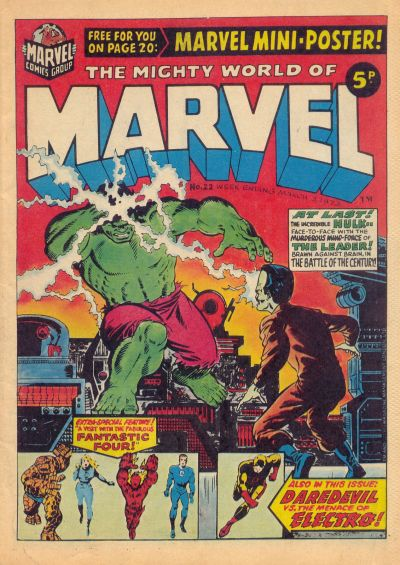 Cover for The Mighty World of Marvel (Marvel UK, 1972 series) #22