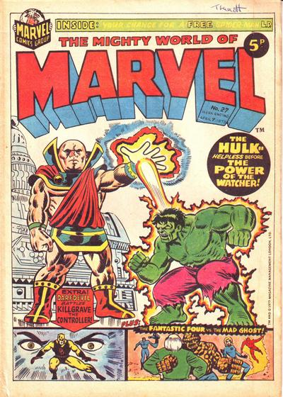 Cover for The Mighty World of Marvel (Marvel UK, 1972 series) #27