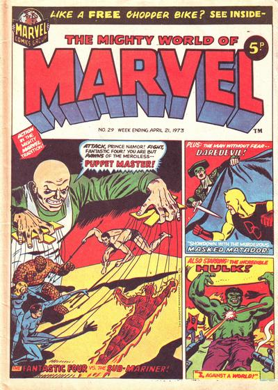 Cover for The Mighty World of Marvel (Marvel UK, 1972 series) #29