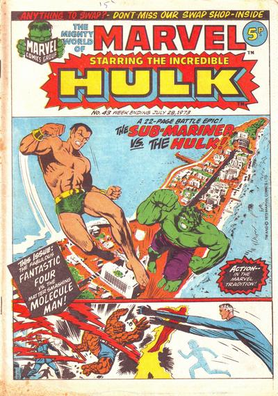 Cover for The Mighty World of Marvel (Marvel UK, 1972 series) #43
