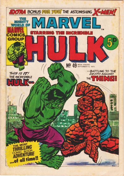 Cover for The Mighty World of Marvel (Marvel UK, 1972 series) #49