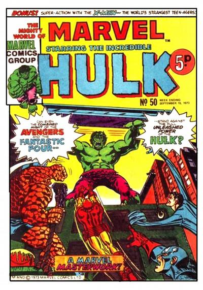 Cover for The Mighty World of Marvel (Marvel UK, 1972 series) #50