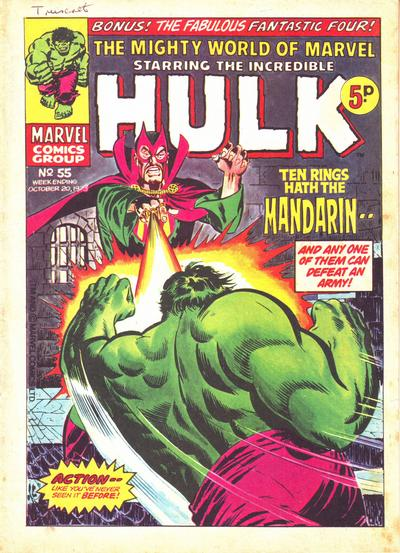 Cover for The Mighty World of Marvel (Marvel UK, 1972 series) #55
