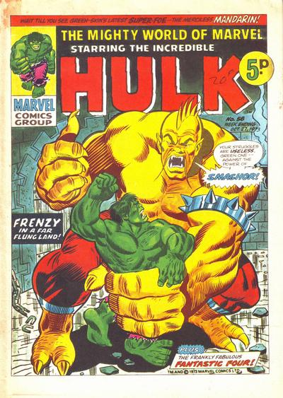 Cover for The Mighty World of Marvel (Marvel UK, 1972 series) #56