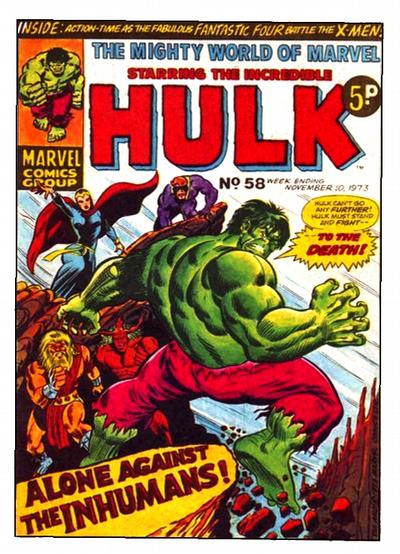 Cover for The Mighty World of Marvel (Marvel UK, 1972 series) #58