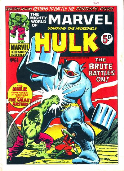 Cover for The Mighty World of Marvel (Marvel UK, 1972 series) #64