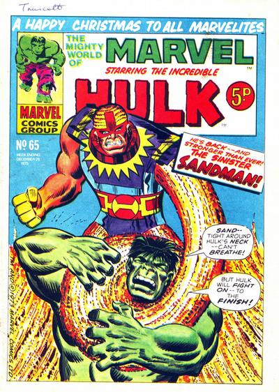 Cover for The Mighty World of Marvel (Marvel UK, 1972 series) #65