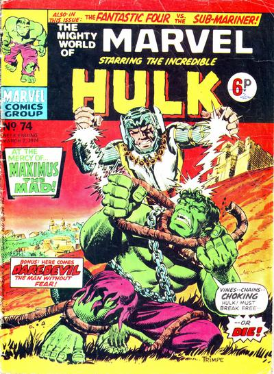 Cover for The Mighty World of Marvel (Marvel UK, 1972 series) #74