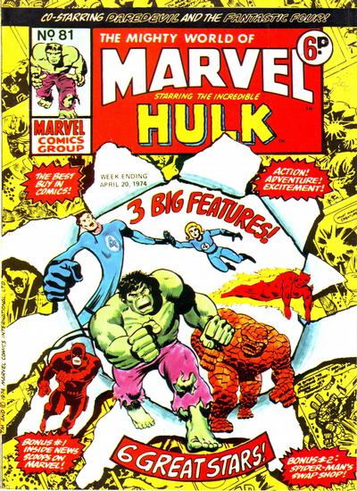 Cover for The Mighty World of Marvel (Marvel UK, 1972 series) #81