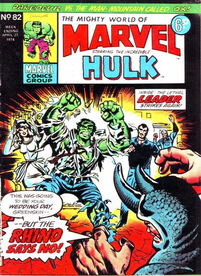 Cover for The Mighty World of Marvel (Marvel UK, 1972 series) #82