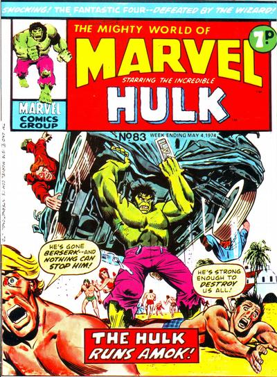Cover for The Mighty World of Marvel (Marvel UK, 1972 series) #83