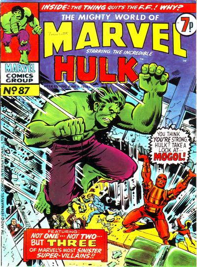 Cover for The Mighty World of Marvel (Marvel UK, 1972 series) #87