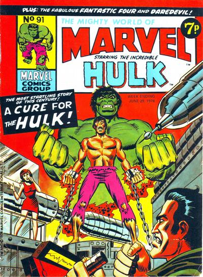 Cover for The Mighty World of Marvel (Marvel UK, 1972 series) #91