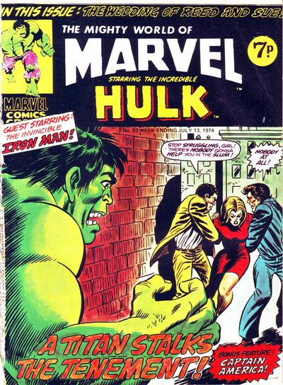 Cover for The Mighty World of Marvel (Marvel UK, 1972 series) #93