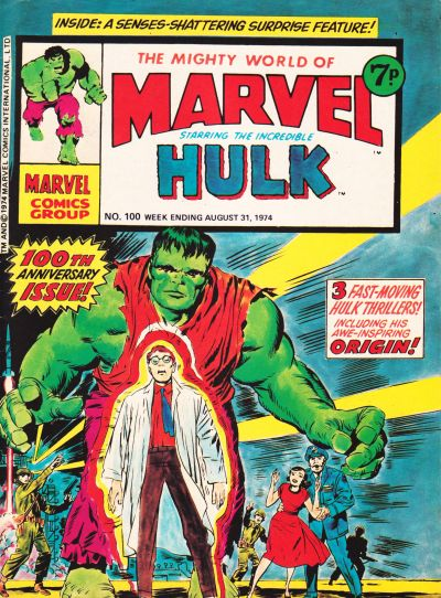 Cover for The Mighty World of Marvel (Marvel UK, 1972 series) #100