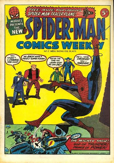Cover for Spider-Man Comics Weekly (Marvel UK, 1973 series) #2