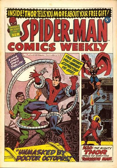 Cover for Spider-Man Comics Weekly (Marvel UK, 1973 series) #4