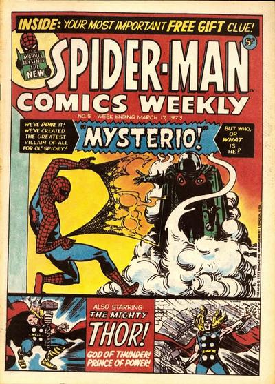 Cover for Spider-Man Comics Weekly (Marvel UK, 1973 series) #5