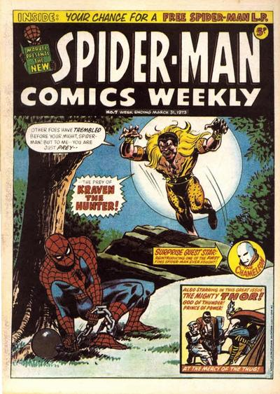Cover for Spider-Man Comics Weekly (Marvel UK, 1973 series) #7