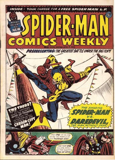 Cover for Spider-Man Comics Weekly (Marvel UK, 1973 series) #8