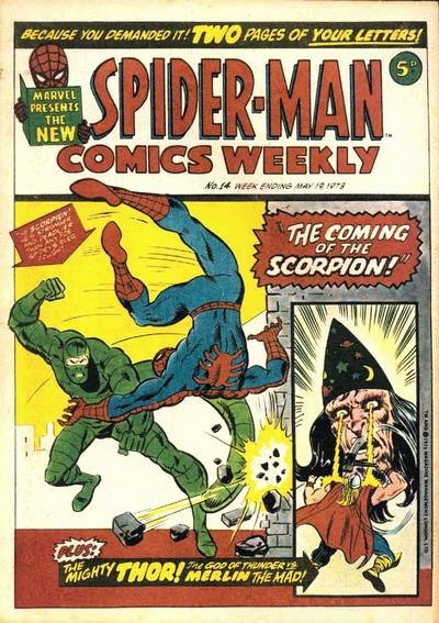 Cover for Spider-Man Comics Weekly (Marvel UK, 1973 series) #14