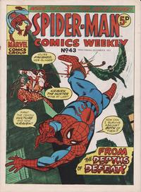 Cover Thumbnail for Spider-Man Comics Weekly (Marvel UK, 1973 series) #43