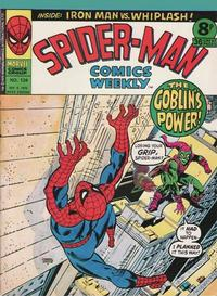 Cover Thumbnail for Spider-Man Comics Weekly (Marvel UK, 1973 series) #134