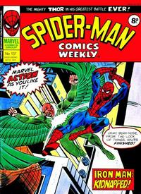 Cover Thumbnail for Spider-Man Comics Weekly (Marvel UK, 1973 series) #137