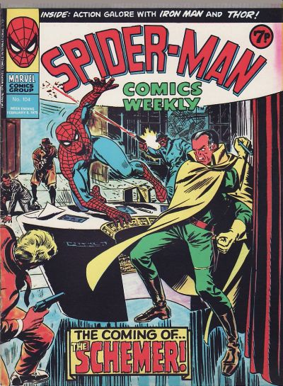 Cover for Spider-Man Comics Weekly (Marvel UK, 1973 series) #104