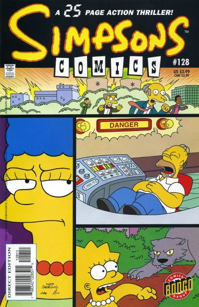Cover for Simpsons Comics (Bongo, 1993 series) #128