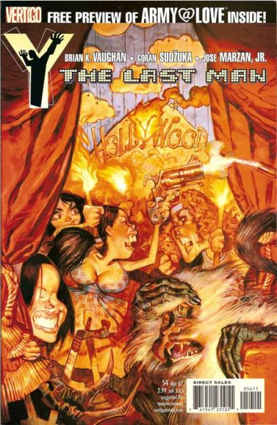 Cover for Y: The Last Man (DC, 2002 series) #54